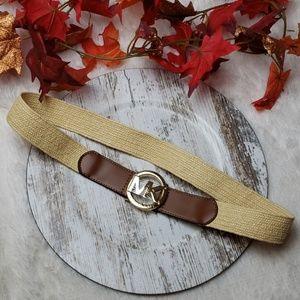 🚨NEW LIST Michael Kors Leather Stretch Woven Belt